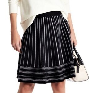 NEW Kate Spade knit striped flare skirt size XS
